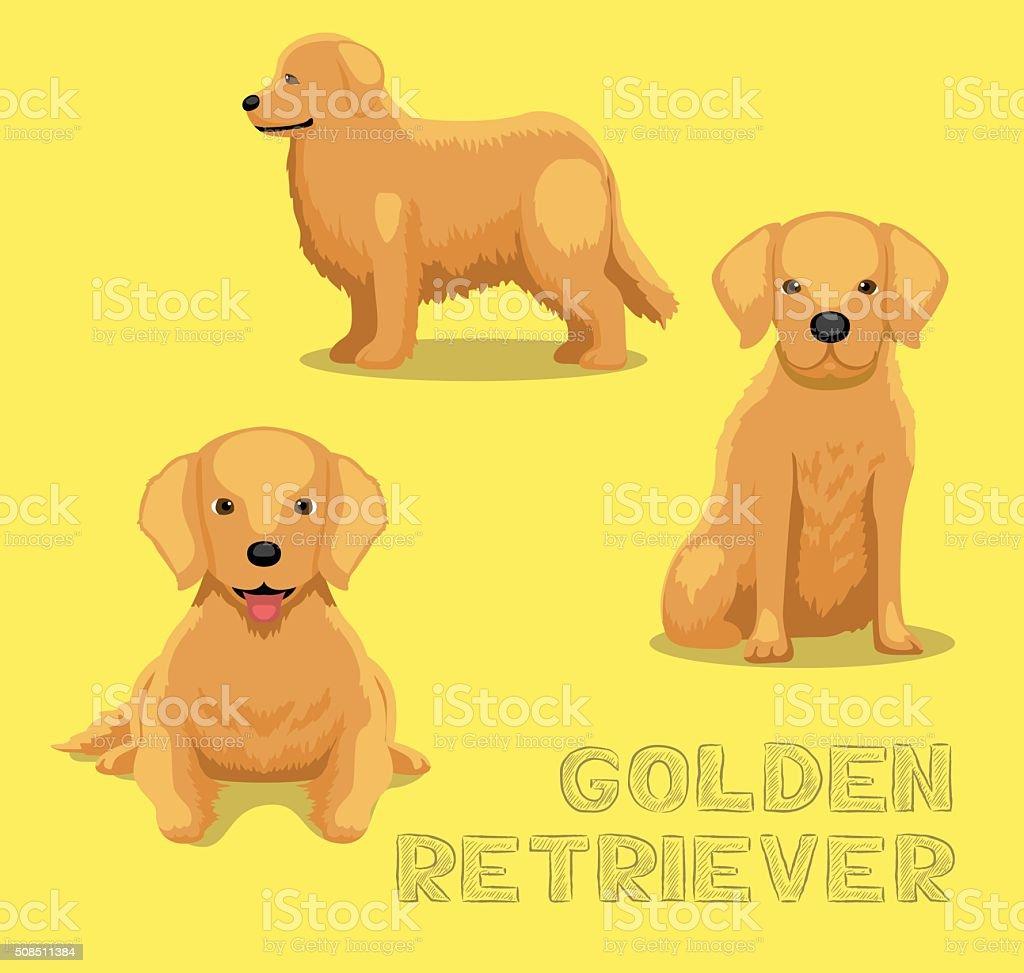 Royalty Free Golden Retriever Clip Art Vector Images