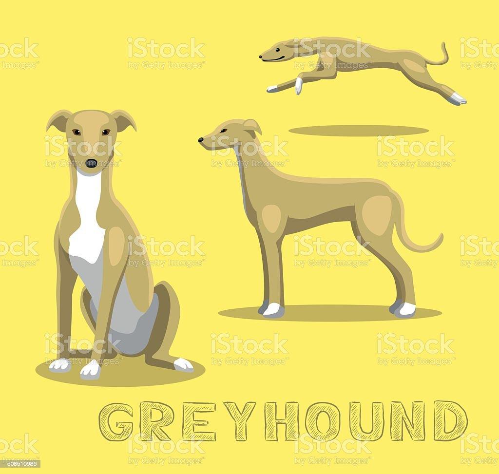 Dog Greyhound Cartoon Vector Illustration vector art illustration