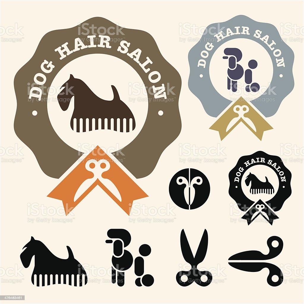 Dog hair salon royalty-free stock vector art