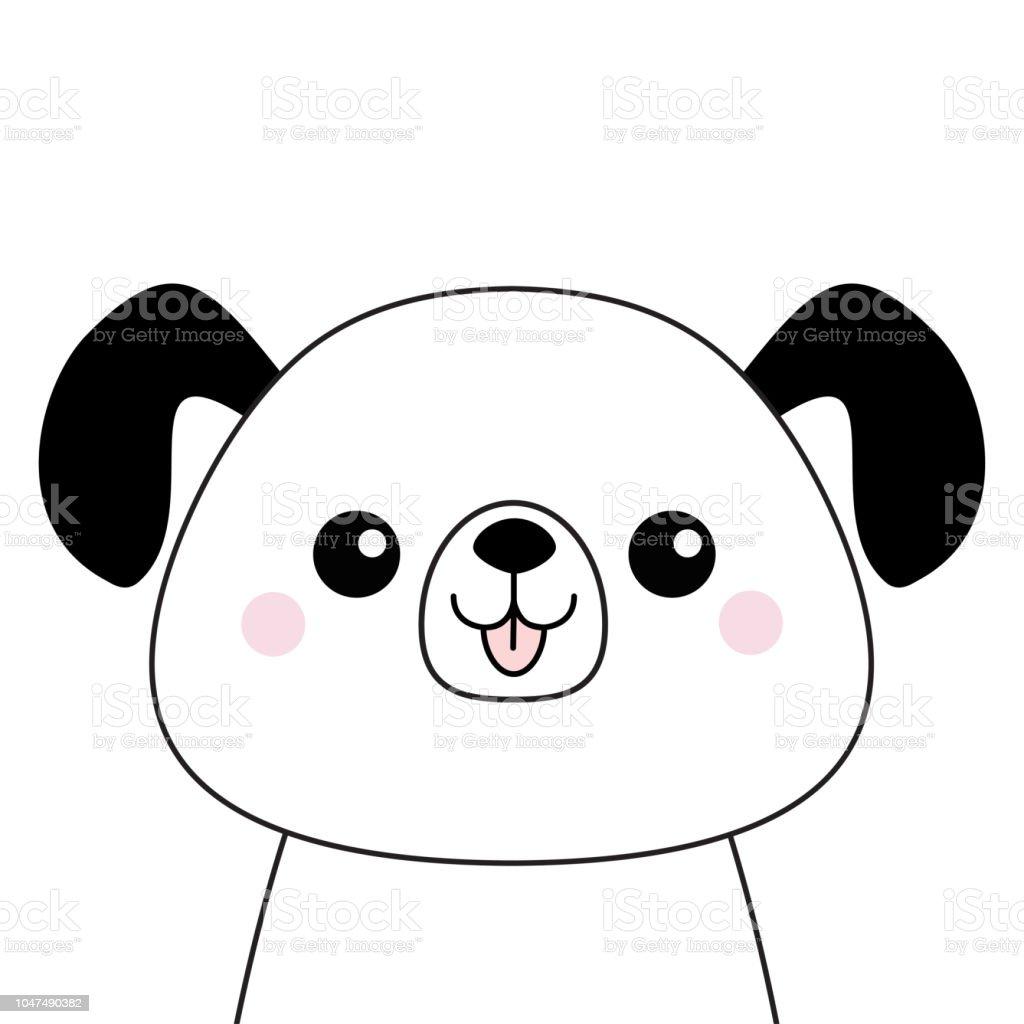 Ilustración De Silueta De La Cara Feliz De Cabeza De Perro Dibujo