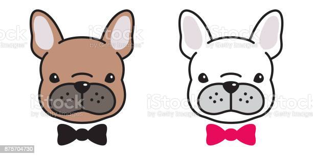 Dog head french bulldog puppy face bow tie doodle vector illustration vector id875704730?b=1&k=6&m=875704730&s=612x612&h=w5f0vzgvvm9ttis6f7a0euv4wno o6clu3qqjavjxwy=