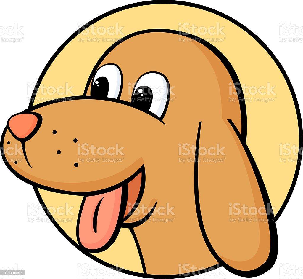 dog head royalty-free stock vector art