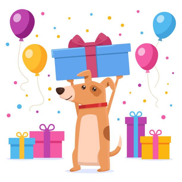 2 216 Dog Birthday Illustrations Clip Art Istock