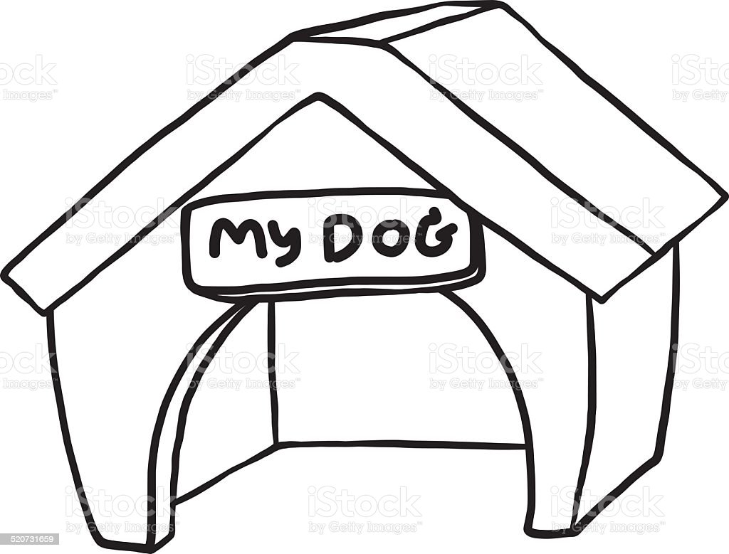 Dog House Cartoon Royalty Free Stock Vector Art