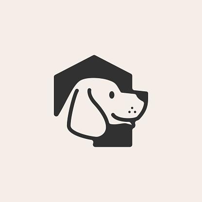 dog house hipster vintage vector icon illustration
