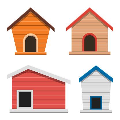 Dog house vector design illustration isolated on white background