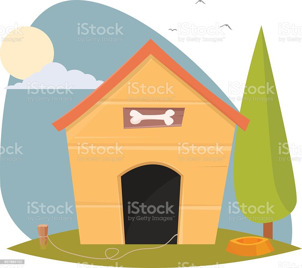 royalty free dog house clip art vector images illustrations istock rh istockphoto com snoopy dog house clip art dog and doghouse clip art