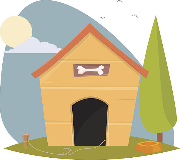 Dog house Dog house arguing stock illustrations