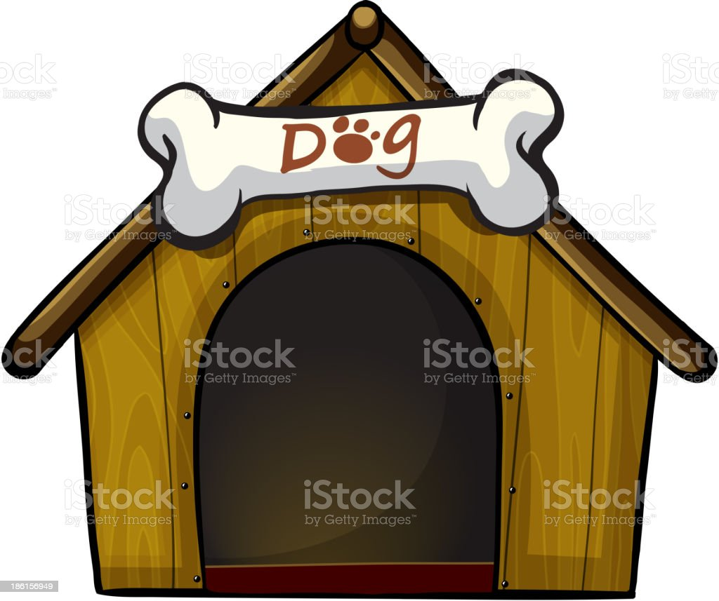 royalty free dog kennel clip art vector images illustrations istock rh istockphoto com clip art dog foot prints dog house clip art black and white