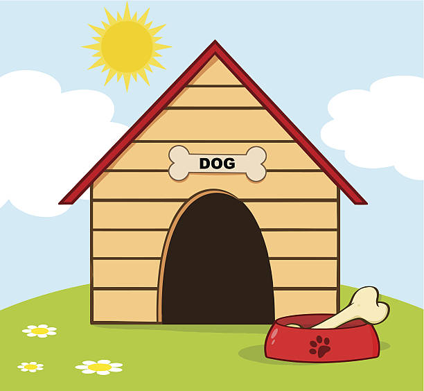 Royalty Free Kennel Clip Art, Vector Images ...