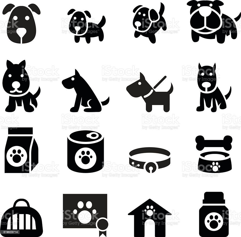 Dog icon vector art illustration