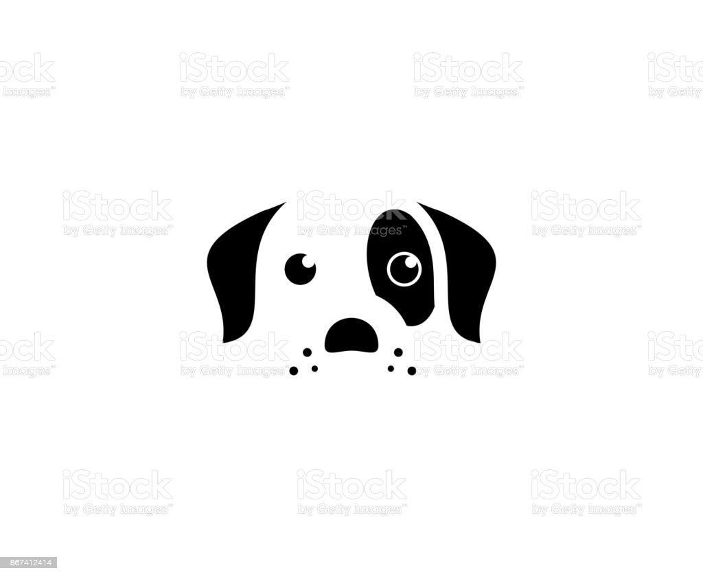 Dog icon vector art illustration