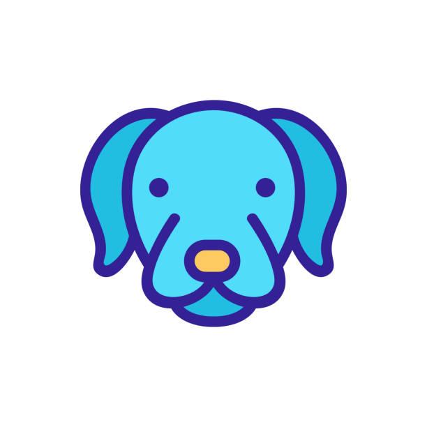 Dog icon vector. Isolated contour symbol illustration Dog icon vector. Thin line sign. Isolated contour symbol illustration image stock illustrations
