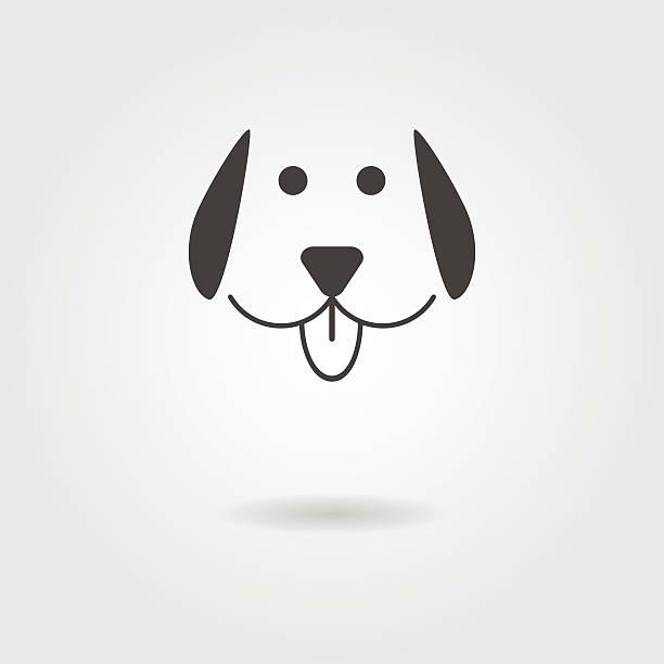 hund-symbol mit schatten - maul stock-grafiken, -clipart, -cartoons und -symbole