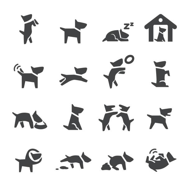 Dog Icons - Acme Series vector art illustration