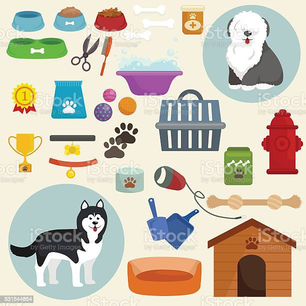 Dog icons flat set with dung kennel leash food bowl vector id531544854?b=1&k=6&m=531544854&s=612x612&h=vwxlifgrk8myywovmbsl tmwznlmothfaqanm7jchpa=