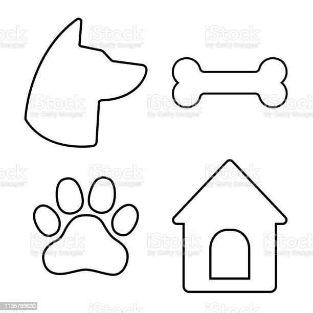 Dog icons set dog head paw bone dog house vector vector id1135799630?b=1&k=6&m=1135799630&s=612x612&h=o6cxpka1znxq8dbgjp1ykuma6bpu1tbocjv71tip3ke=