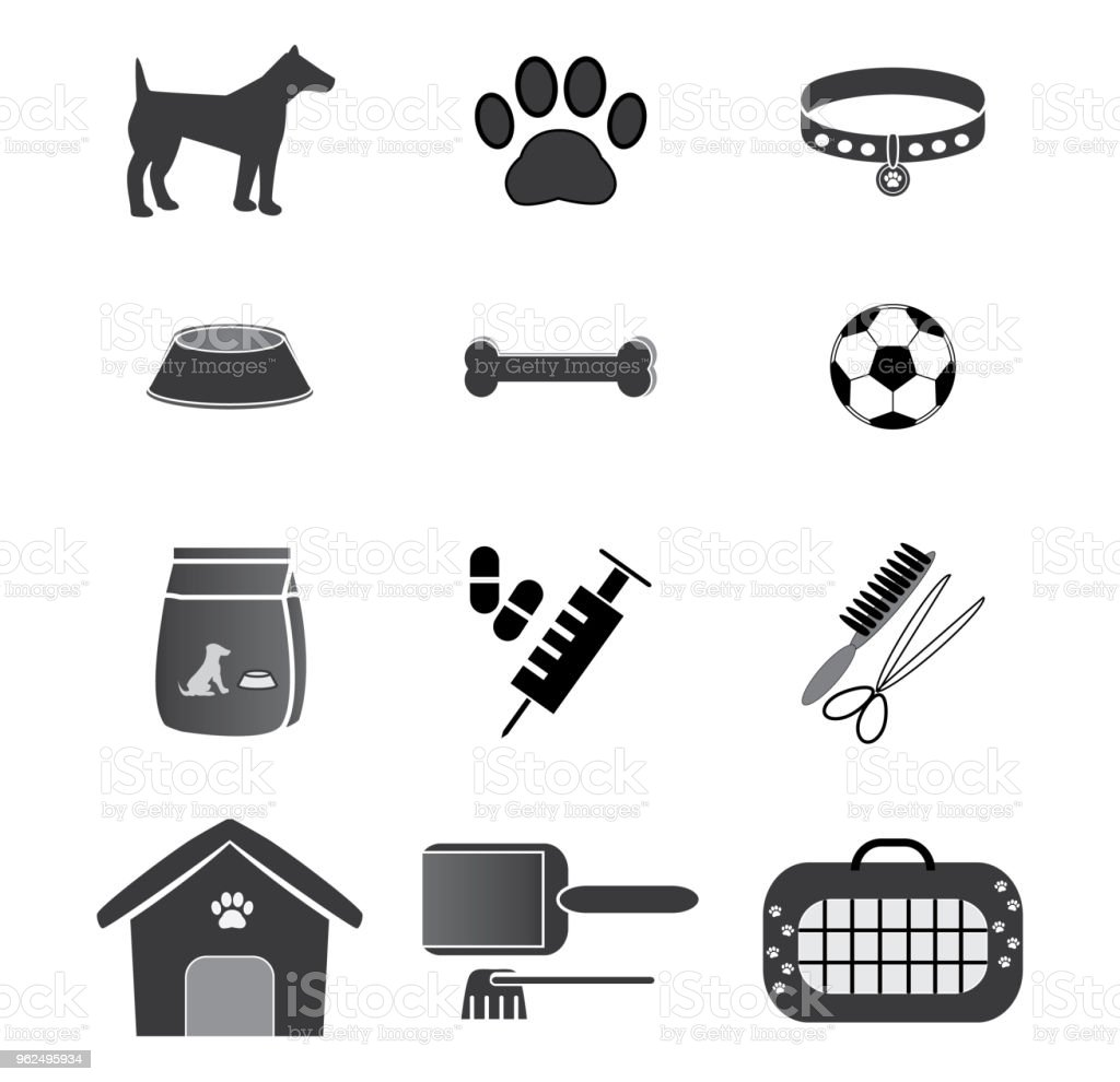 Dog Icons Set - Royalty-free Animal stock vector