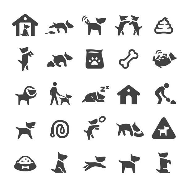 dog icons - smart series - dog treats stock illustrations
