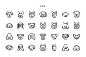 Dog Icons - Vector EPS 10 File, Pixel Perfect 28 Icons.