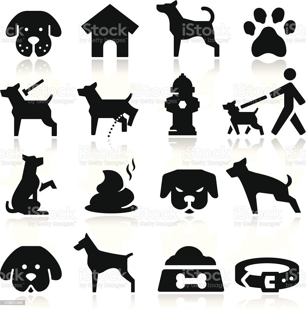 Dog Icons vector art illustration