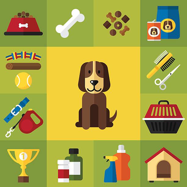 ilustrações de stock, clip art, desenhos animados e ícones de ícones de cão - dog food