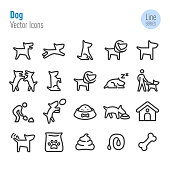 Dog Icons - Vector Line Series