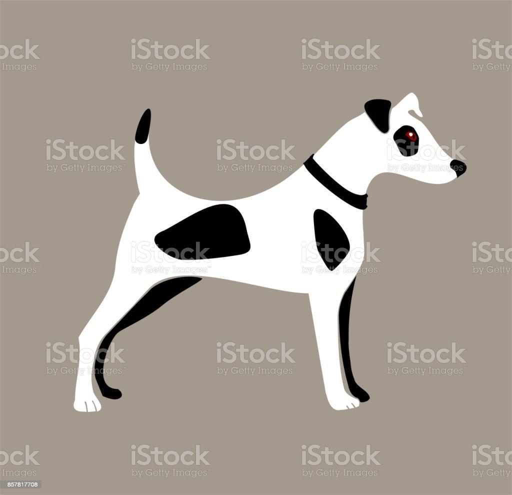 Dog illustration vector art illustration