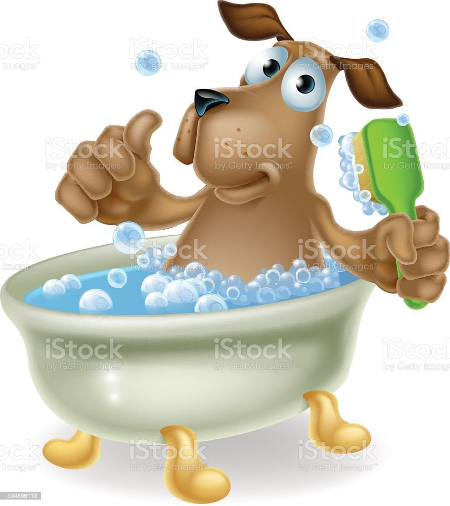Bath Bubbles Cartoon Free Vector Graphic On Pixabay: Dog In Bubble Bath Cartoon Stock Vector Art & More Images