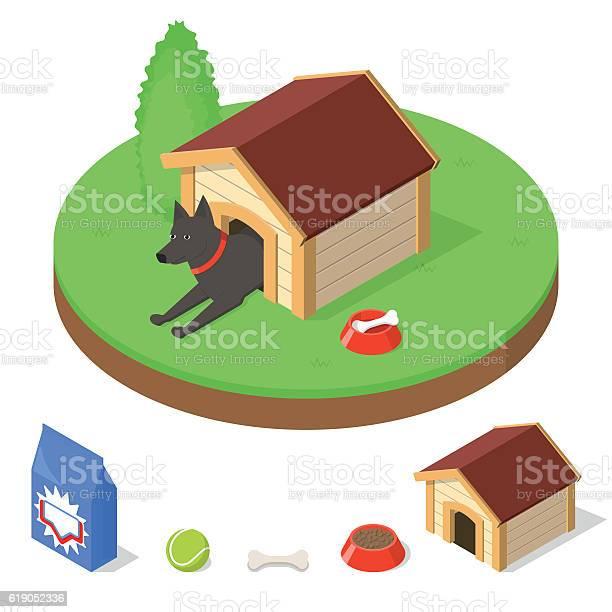 Dog in doghouse vector id619052336?b=1&k=6&m=619052336&s=612x612&h=oyldtszmk0kn0h5dixgtbu0no8nngush yzj d3sfpk=