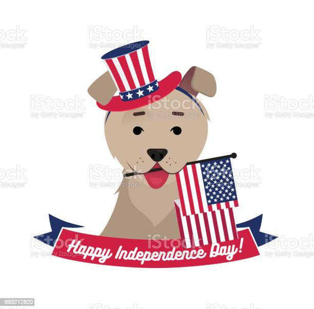 Dog in hat holding usa flag with mouth vector id693212820?b=1&k=6&m=693212820&s=612x612&h=wsuidbzxg3xgs5td8rkl 4xpotgi5f5jztgdim5h0lc=