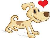 easy editable dog vector..