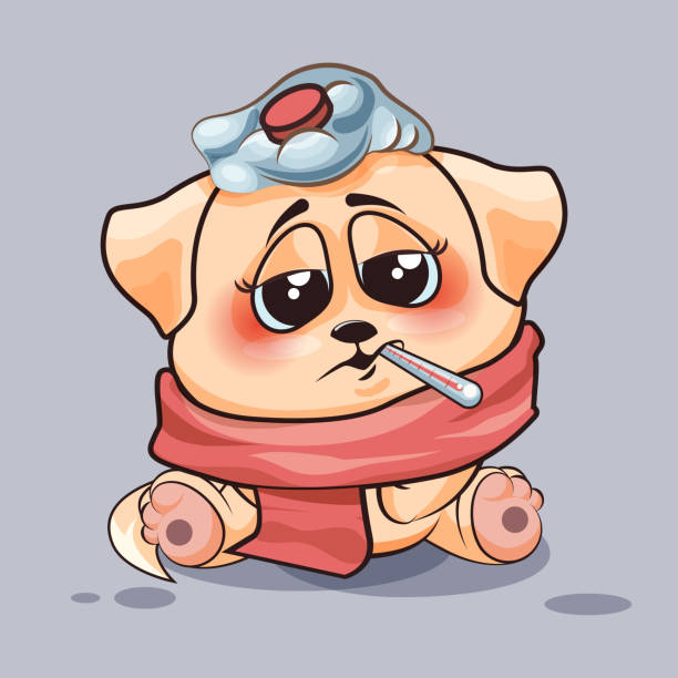 Best Sick Dog Illustrations, Royalty-Free Vector Graphics ...