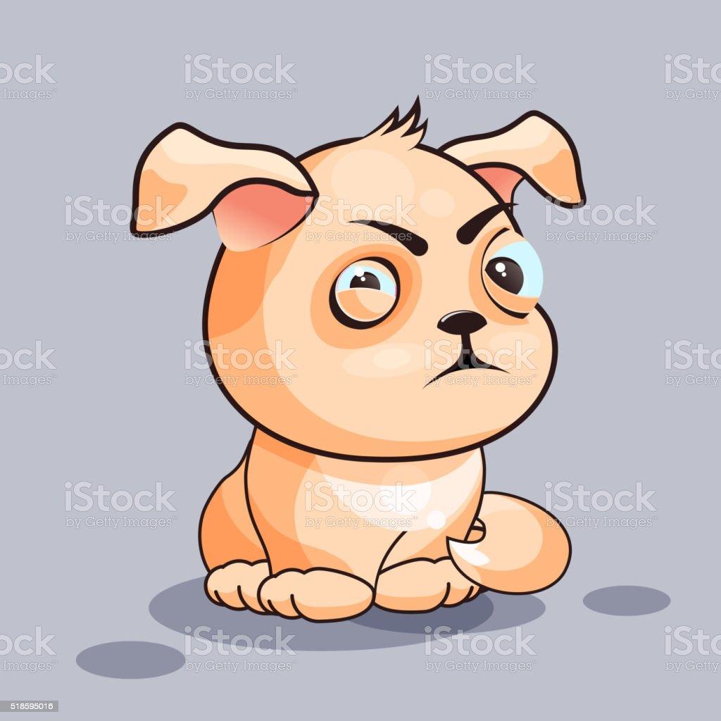 犬は 目を凝らす ベクターアートイラスト