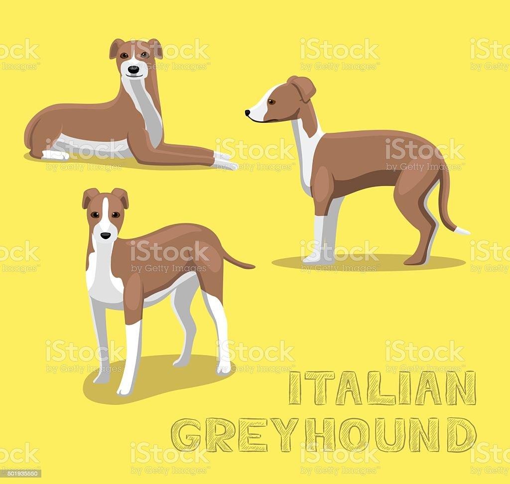 Dog Italian Greyhound Cartoon Vector Illustration vector art illustration