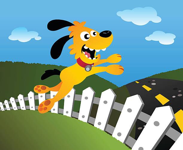 Dog Jump vector art illustration