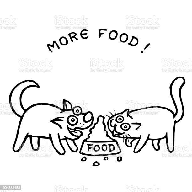 Dog kik and cat tik eat together with one bowl vector illustration vector id904383488?b=1&k=6&m=904383488&s=612x612&h=w0ucnak4fgz7gbftkrjtngwglexsbxh6bieuldfgb8u=