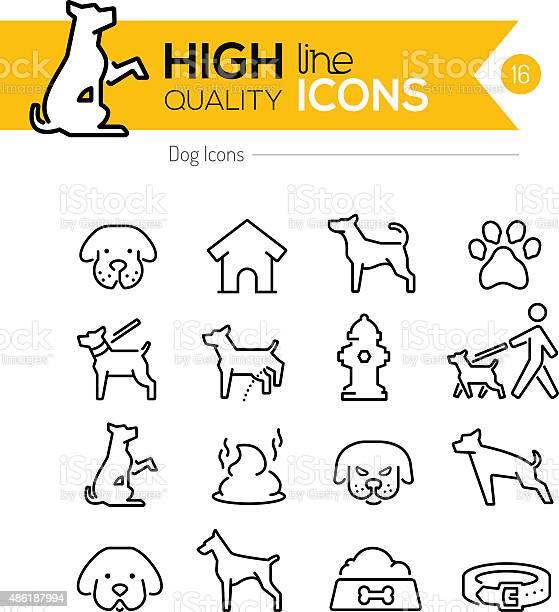 Dog line icons vector id486187994?b=1&k=6&m=486187994&s=612x612&h=5myjfdudiw1u8kwewf73lb86h5w8y5bx3s6v2zkutwu=