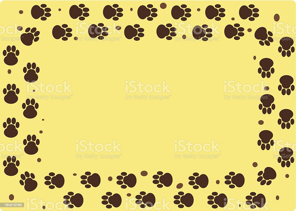 dog muddy tracks - 2 credits only! royalty-free stock vector art