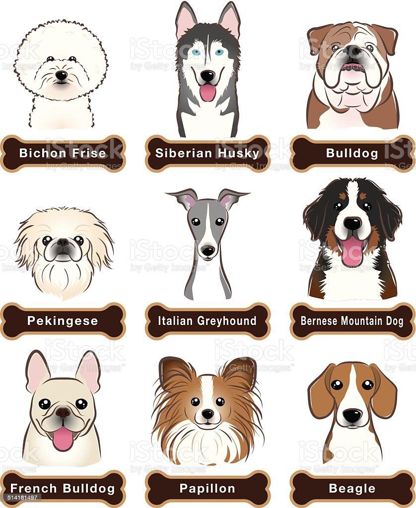 Dog / Nameplate vector art illustration