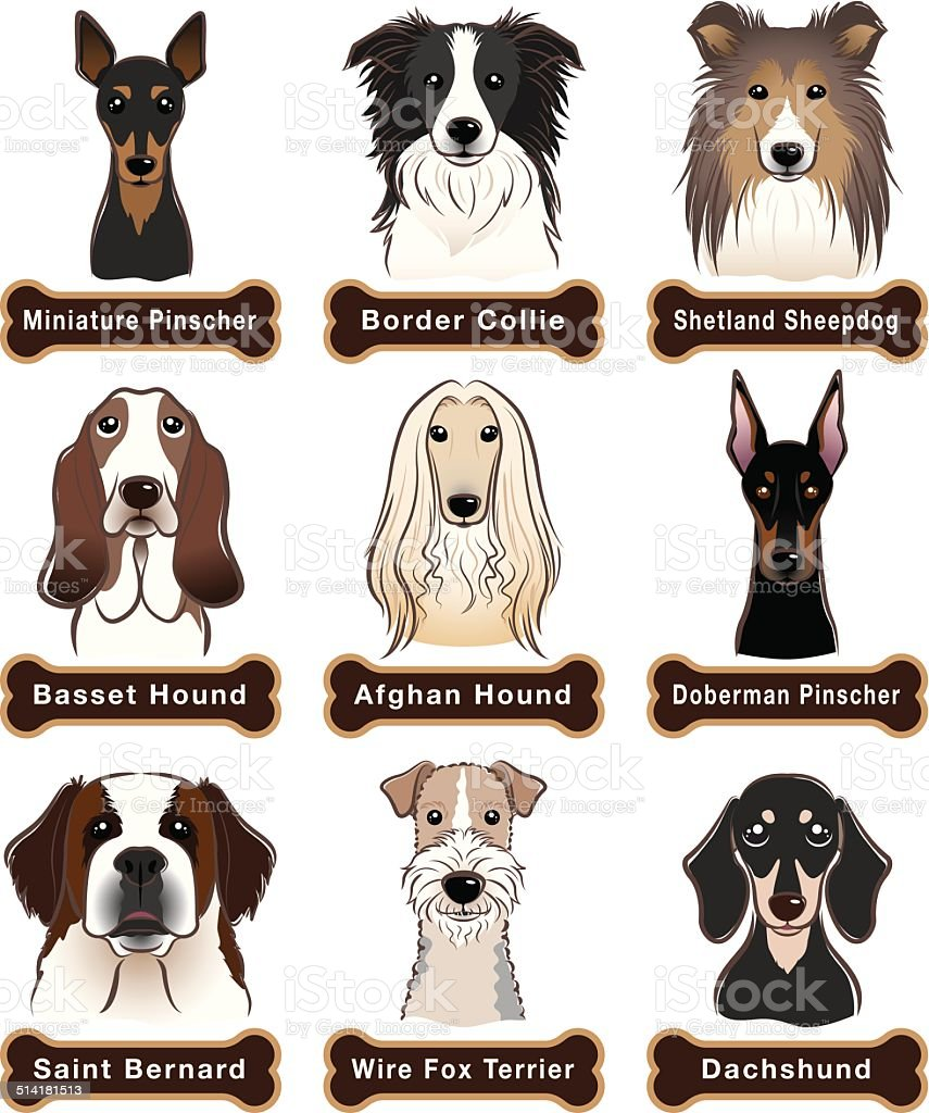 Dog / Nameplate vector art illustration