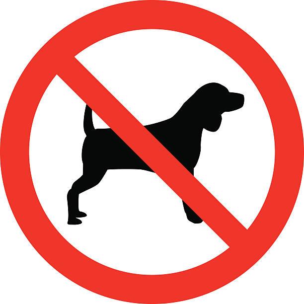 pies nie może - ciąć stock illustrations