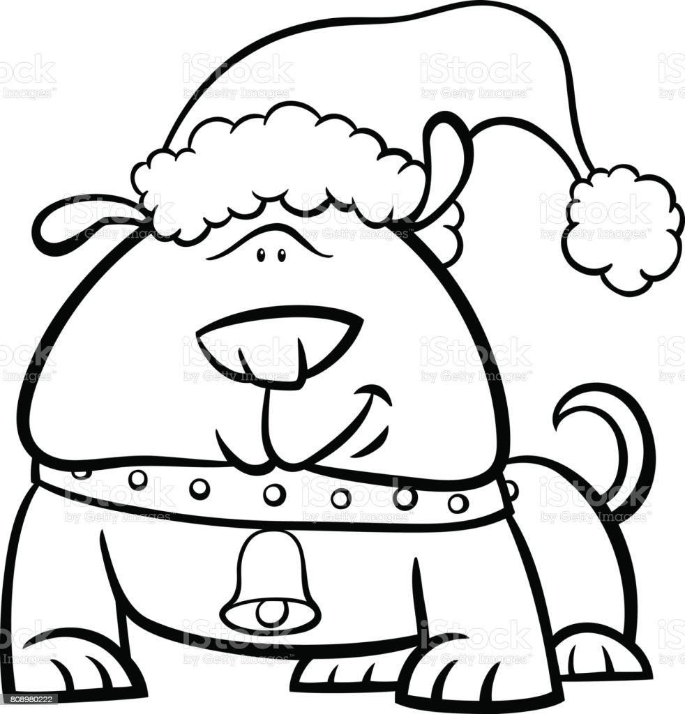Vistoso Perro De Navidad Para Colorear Páginas 2 Regalo - Enmarcado ...