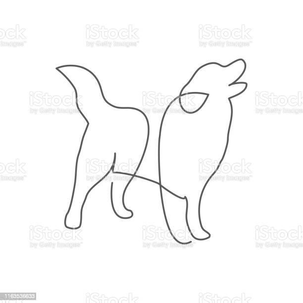 Dog one line drawing on white vector id1163536633?b=1&k=6&m=1163536633&s=612x612&h=yl21umufczunifmmoqldtpm2ko56omfyfhenjfnybjy=