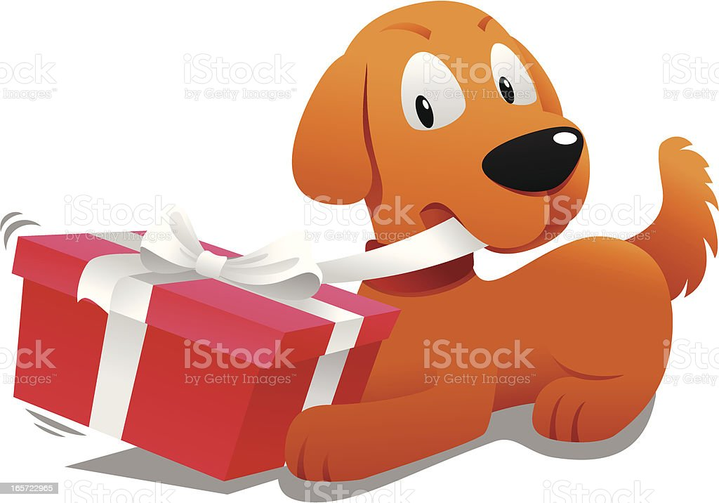 open present clipart. dog opening a gift clip art vector images u0026 illustrations open present clipart