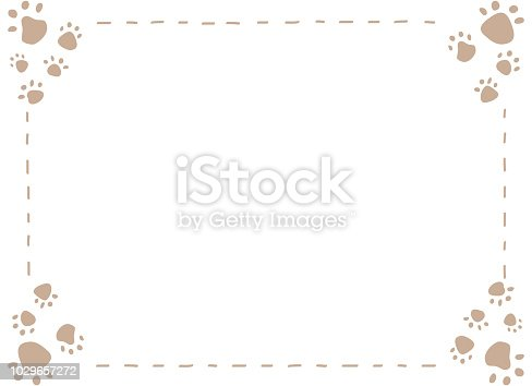 Dog or cat paw print Vector illustration