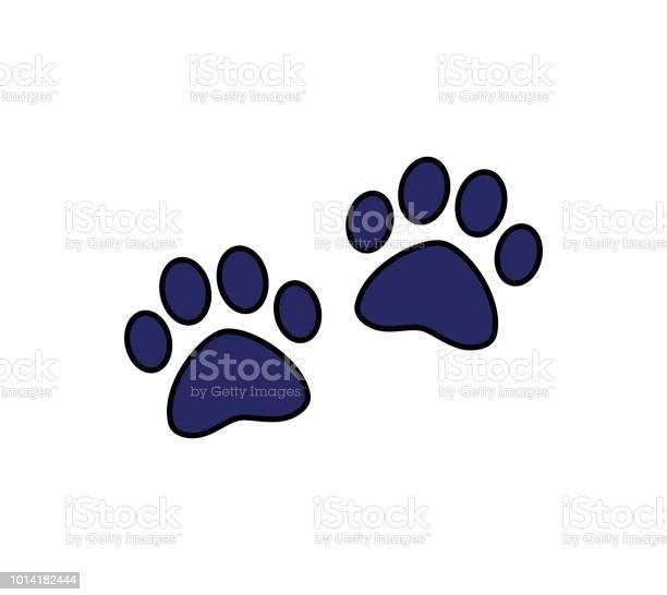Dog or cat paw symbol of pet animal footprint puppy icon vector id1014182444?b=1&k=6&m=1014182444&s=612x612&h=wfgannsvrg6lyskctd8m3v2ibwxtkgkgnuc vmwyegc=