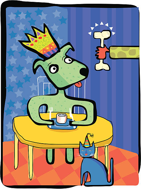 Dog Party vektorkonstillustration