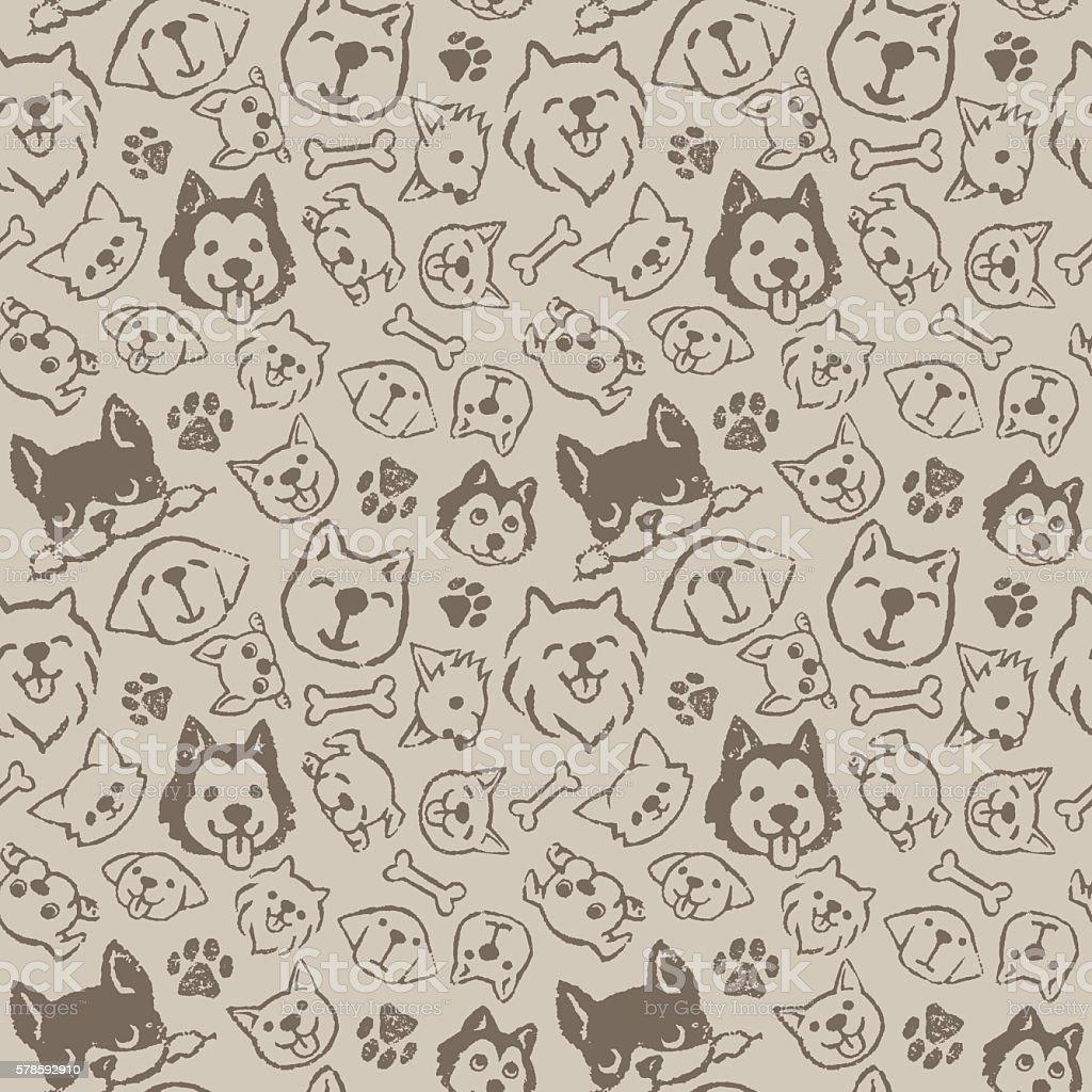 Dog pattern design – artystyczna grafika wektorowa