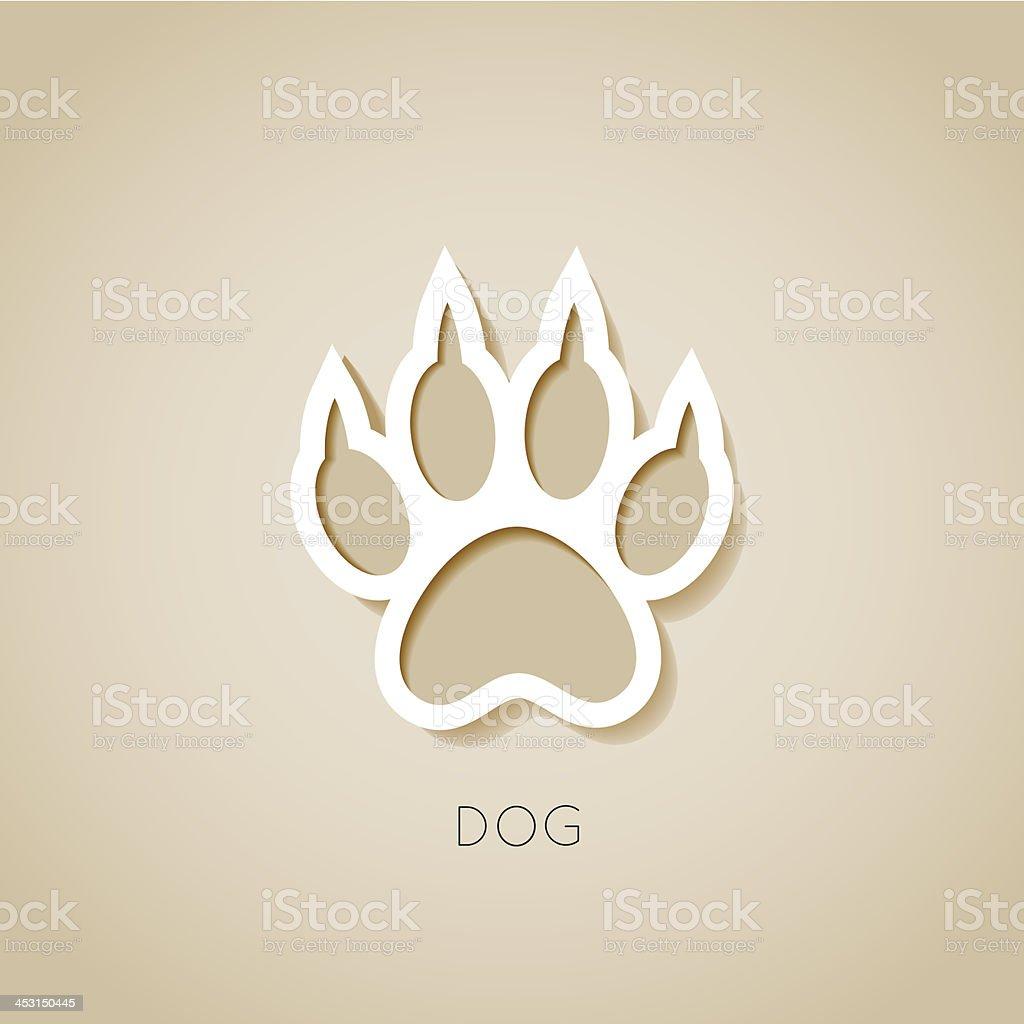 dog paw banner - vector illustration vector art illustration